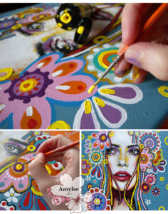 step by step art painting amylee